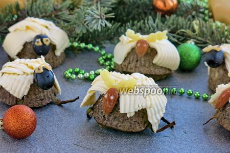 Закусочные печёночные маффины с макаронами