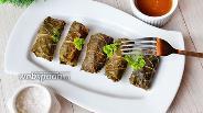 Фото рецепта Долма из куриного мяса с гречкой