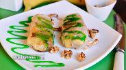 Фото рецепта Спринг-роллы с бананами и грецкими орехами