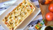 Фото рецепта Слоёный пирог с тилапией и кальмаром