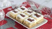 Фото рецепта Творожно-марципановые пирожные
