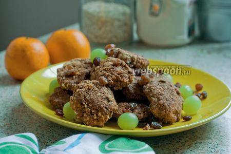 Фото рецепта Овсяное печенье без масла и сахара