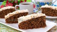 Фото рецепта Ореховый пирог с безе