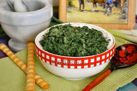 Сливочный шпинат