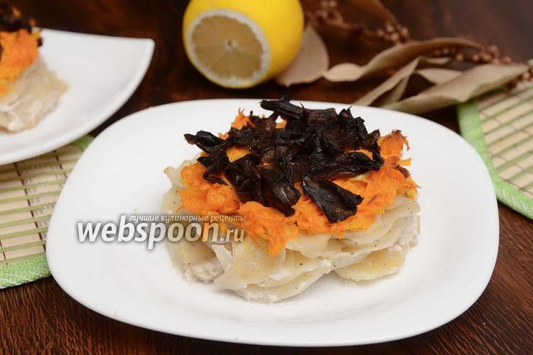 Фото Медальоны из картофеля, моркови и грибов
