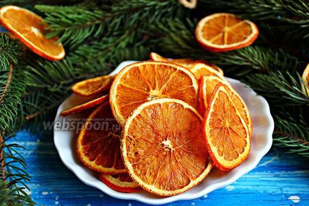 Апельсиновые чипсы с имбирём