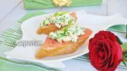 Фото рецепта Брускетта со слабосолёным лососем и яичным салатом
