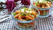 Фото рецепта Салат-коктейль из свежих овощей с креветками