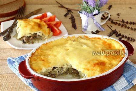 Запеканка из картофеля с мясом и грибами