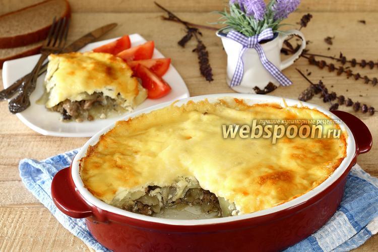 Фото Запеканка из картофеля с мясом и грибами