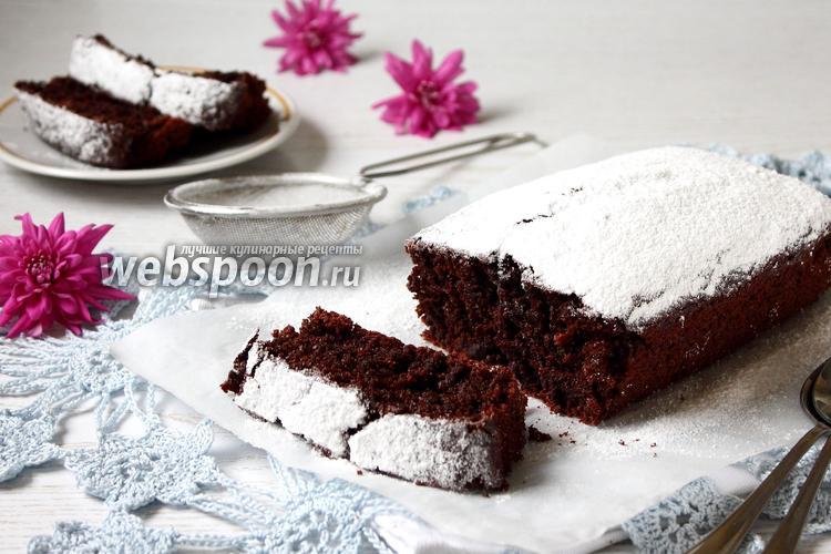 Фото Постный шоколадный кекс