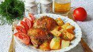 Фото рецепта Курица с картошкой в пивном маринаде
