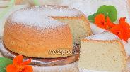 Фото рецепта Бисквит на лимонаде в мультиварке