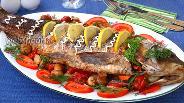 Фото рецепта Карп запечённый с овощами