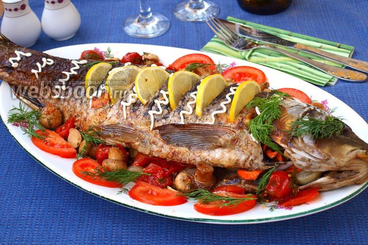 Фото Карп запечённый с овощами