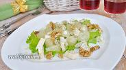 Фото рецепта Салат из помело с голубым сыром