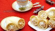 Фото рецепта Пирожные «Вафельные трубочки с кремом»