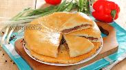 Фото рецепта Хачапури с мясом в духовке