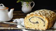 Фото рецепта Творожно-яблочный кекс с маком