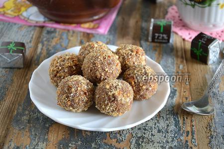 Фото рецепта Шоколадно-творожные конфеты