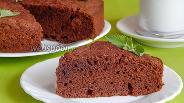 Фото рецепта Гречневый пирог с шоколадом и коньяком