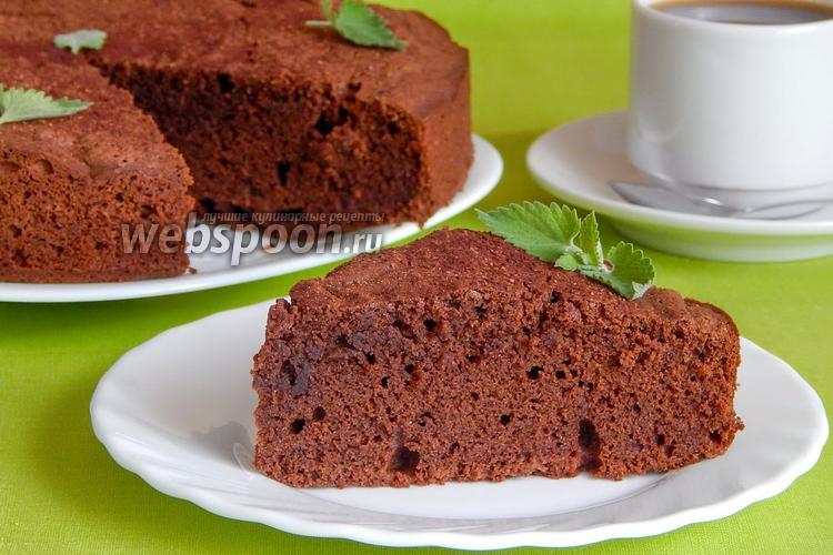Фото Гречневый пирог с шоколадом и коньяком