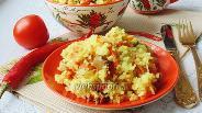 Фото рецепта Рис с куриными желудками