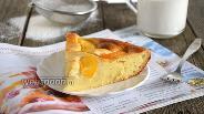 Фото рецепта Мягкий пирог с рикоттой и персиками