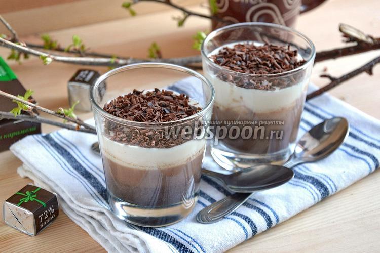Фото Молочно-шоколадное желе с какао