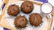 Фото рецепта Шоколадные кексы с шоколадными каплями