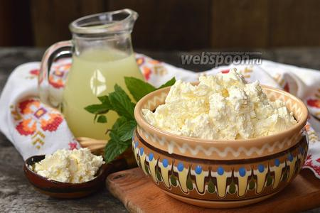 Фото рецепта Домашний творог из кислого молока