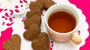 Фото рецепта Шоколадное печенье с кунжутом
