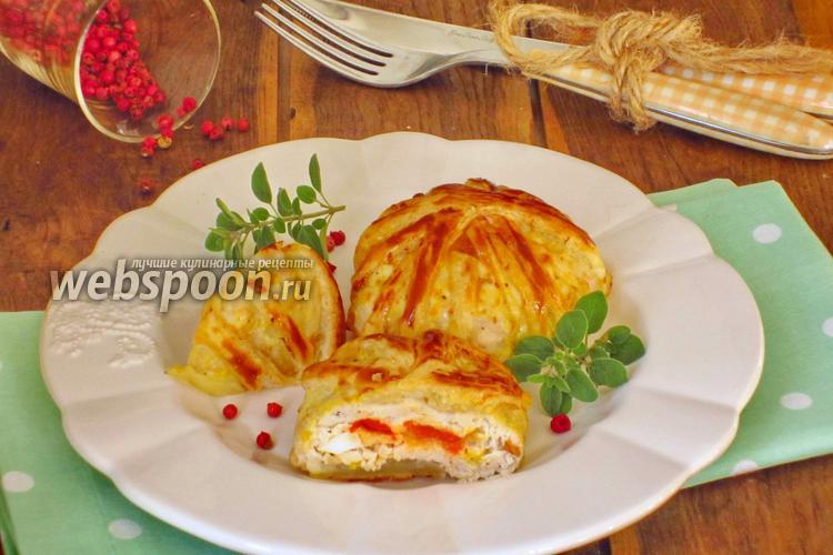 Фото Куриные фрикадельки с начинкой в слоёном тесте