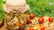 Фото рецепта Шампиньоны маринованные с овощами