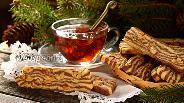 Фото рецепта Полосатое печенье с орехами