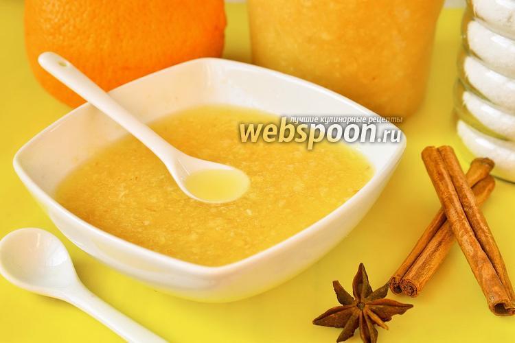 Фото Живое варенье с грушей, апельсинами и корицей
