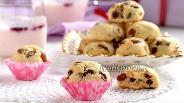 Фото рецепта Печенье «Изюмные холмики»