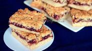Фото рецепта Тёртый пирог с цукатами и смородиновым вареньем