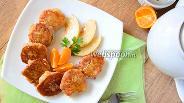 Фото рецепта Сырники с грушей и мёдом