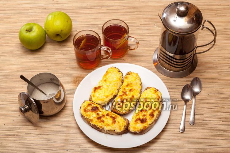 Фото Горячие бутерброды с яйцом и сыром