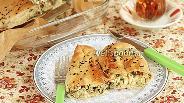 Фото рецепта Кол бёрек — турецкий пирог со шпинатом и солёным творогом