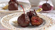 Фото рецепта Коктейльная вишня в шоколаде