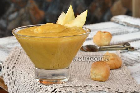 Заварной яблочный крем с маслом