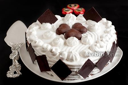 Торт на творожно-шоколадном бисквите