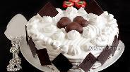 Фото рецепта Торт на творожно-шоколадном бисквите