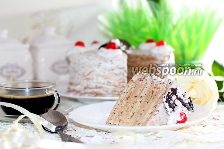 Фото Блинный торт с Маскарпоне