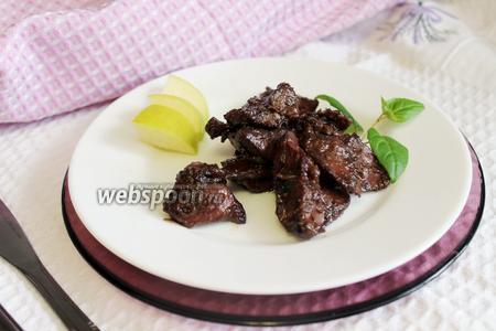 Куриная печень в грушево-медовой заливке
