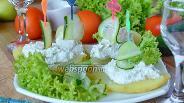 Фото рецепта Картофельные лодочки с крабовыми палочками и творогом