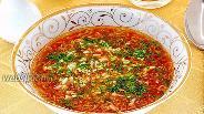 Фото рецепта Суп из помидоров и вермишели быстрого приготовления