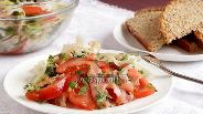 Фото рецепта Салат с сёмгой и помидорами